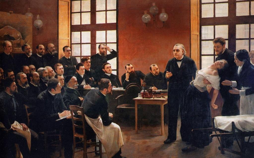 lecon d'hypnose à la Salpêtrière par Jean Marie Charcot